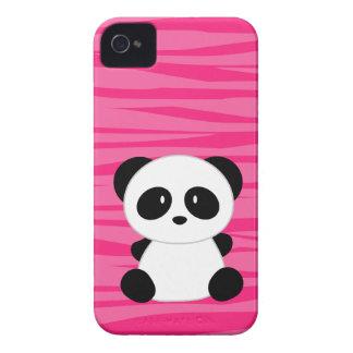 Estampado de zebra lindo de la panda iPhone 4 Case-Mate cárcasas