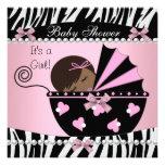 Estampado de zebra lindo del rosa de la niña de la