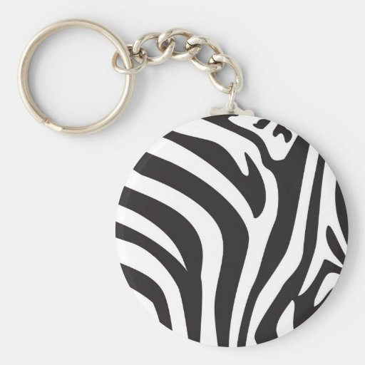 Estampado de zebra llaveros