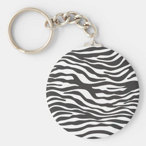 Estampado de zebra llaveros personalizados