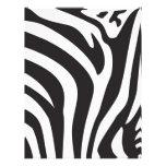 Estampado de zebra membrete a diseño