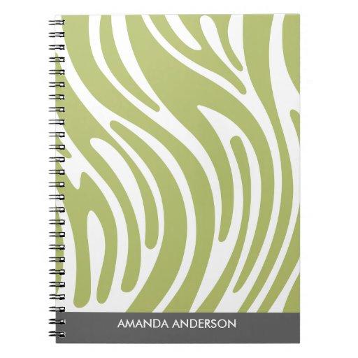 Estampado de zebra moderno - cuaderno personalizad