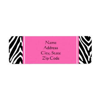 Estampado de zebra negro, del blanco y de las etiquetas de remite