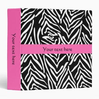 Estampado de zebra negro, del blanco y de las rosa