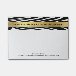 Estampado de zebra negro moderno con las notas del