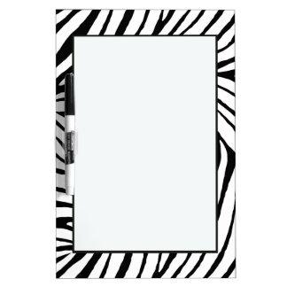 Estampado de zebra negro pizarra blanca