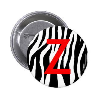 Estampado de zebra negro y blanco pins