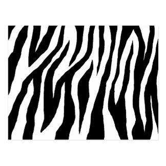Estampado de zebra negro y blanco tarjeta postal