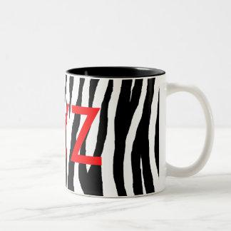 Estampado de zebra negro y blanco taza