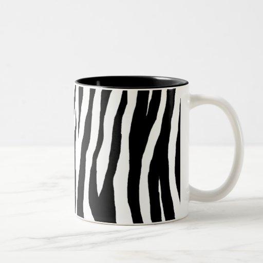 Estampado de zebra negro y blanco taza de café