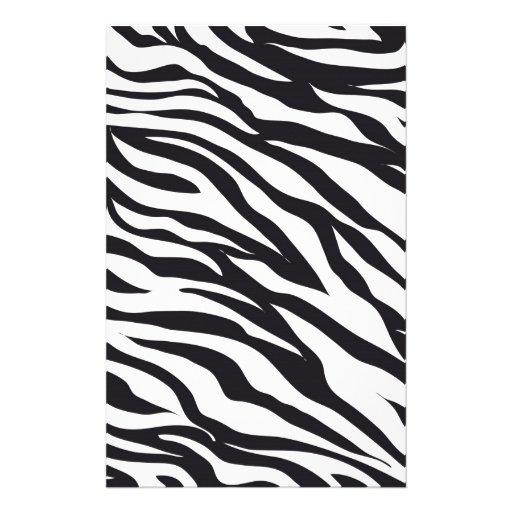 Estampado de zebra papeleria de diseño