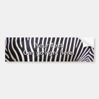 Estampado de zebra pegatina para auto