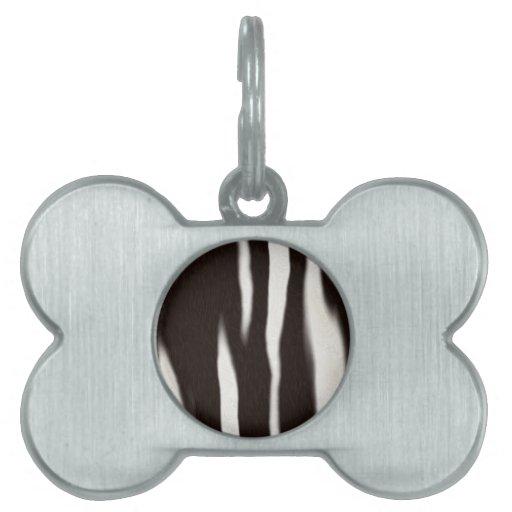 Estampado de zebra placas de mascota