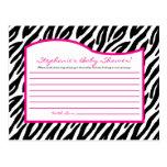 Estampado de zebra programable de las rosas fuerte tarjetas postales