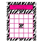 Estampado de zebra programable de las rosas fuerte postal