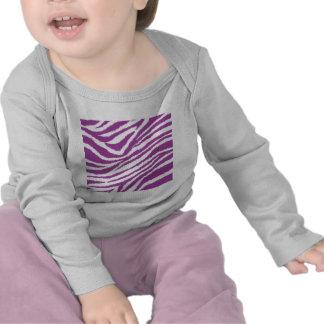 Estampado de zebra púrpura camiseta