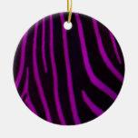 Estampado de zebra púrpura ornamento de reyes magos