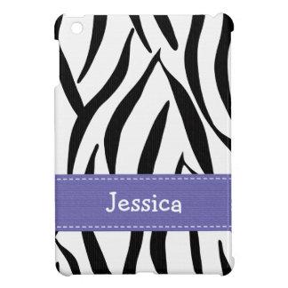 Estampado de zebra púrpura iPad mini cárcasa