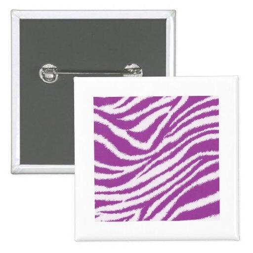 Estampado de zebra púrpura pins