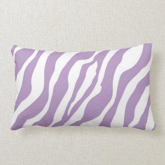 Estampado de zebra púrpura salvaje femenino cojín
