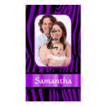 Estampado de zebra púrpura plantillas de tarjetas de visita