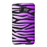 Estampado de zebra púrpura y negro samsung galaxy s2 fundas