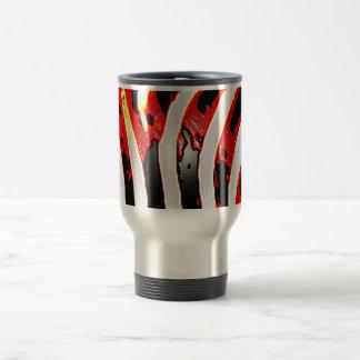 Estampado de zebra rojo taza de viaje