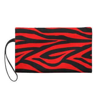 Estampado de zebra rojo Wristlette