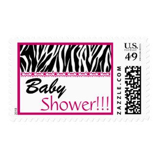 Estampado de zebra rosado blanco negro de moda de