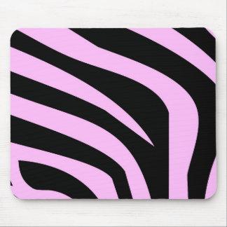 Estampado de zebra rosado elegante tapete de ratón