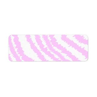 Estampado de zebra rosado, modelo animal etiqueta de remite