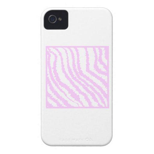 Estampado de zebra rosado, modelo animal Case-Mate iPhone 4 coberturas