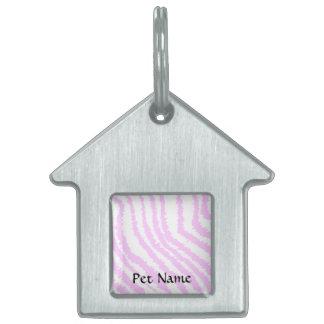 Estampado de zebra rosado, modelo animal placa mascota