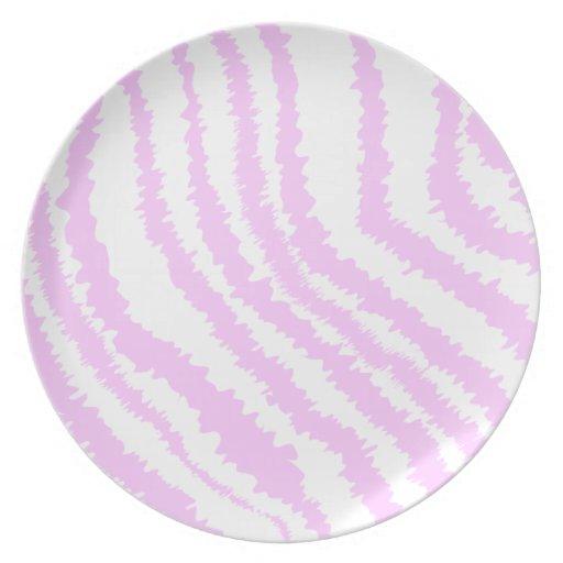 Estampado de zebra rosado, modelo animal plato de comida