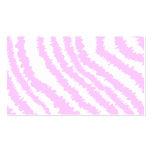 Estampado de zebra rosado, modelo animal tarjetas de visita