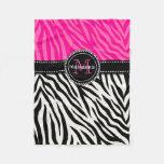 Estampado de zebra rosado negro femenino moderno