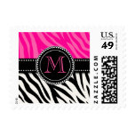Estampado de zebra rosado negro femenino moderno envio