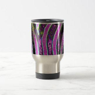 Estampado de zebra rosado taza de viaje