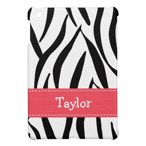 Estampado de zebra rosado y negro
