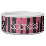 Estampado de zebra rosado y negro de la princesa f boles para gatos