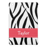 Estampado de zebra rosado y negro iPad mini protector