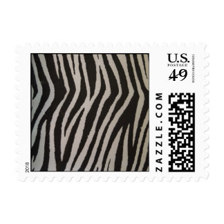 Estampado de zebra salvaje sello