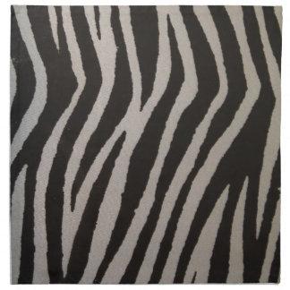 Estampado de zebra salvaje servilleta de papel