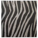 Estampado de zebra salvaje servilletas imprimidas