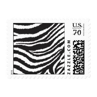 Estampado de zebra franqueo