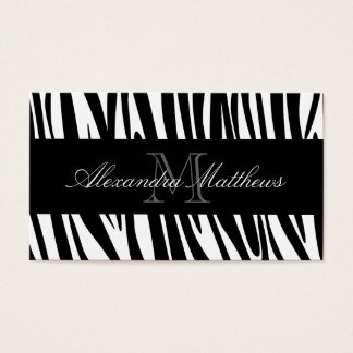Estampado de zebra tarjeta de negocios