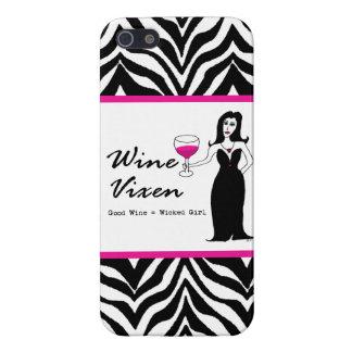 Estampado de zebra travieso del chica del Vixen iPhone 5 Carcasa