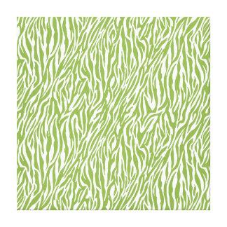 Estampado de zebra verde del safari impresiones de lienzo