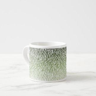 Estampado de zebra verde salvaje Ombre Taza De Espresso