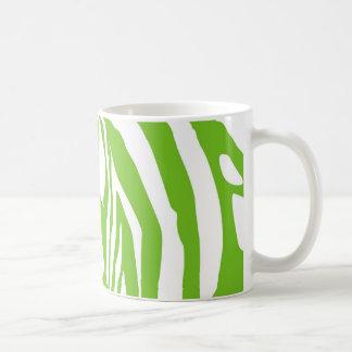 Estampado de zebra verde taza clásica